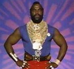 Your winner and reigning WWWF Mascot: Mr. T!