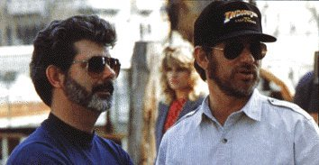George Lucas and Steven Spielberg in happier times.