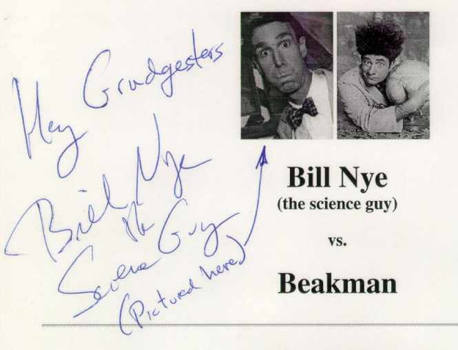 Bill Nye Signature