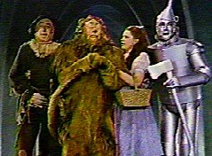 Dorothy and her crew, The Wizard of Oz